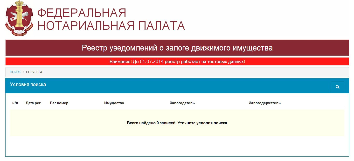 Реестр залогов проверка авто автосалон hundai в москве