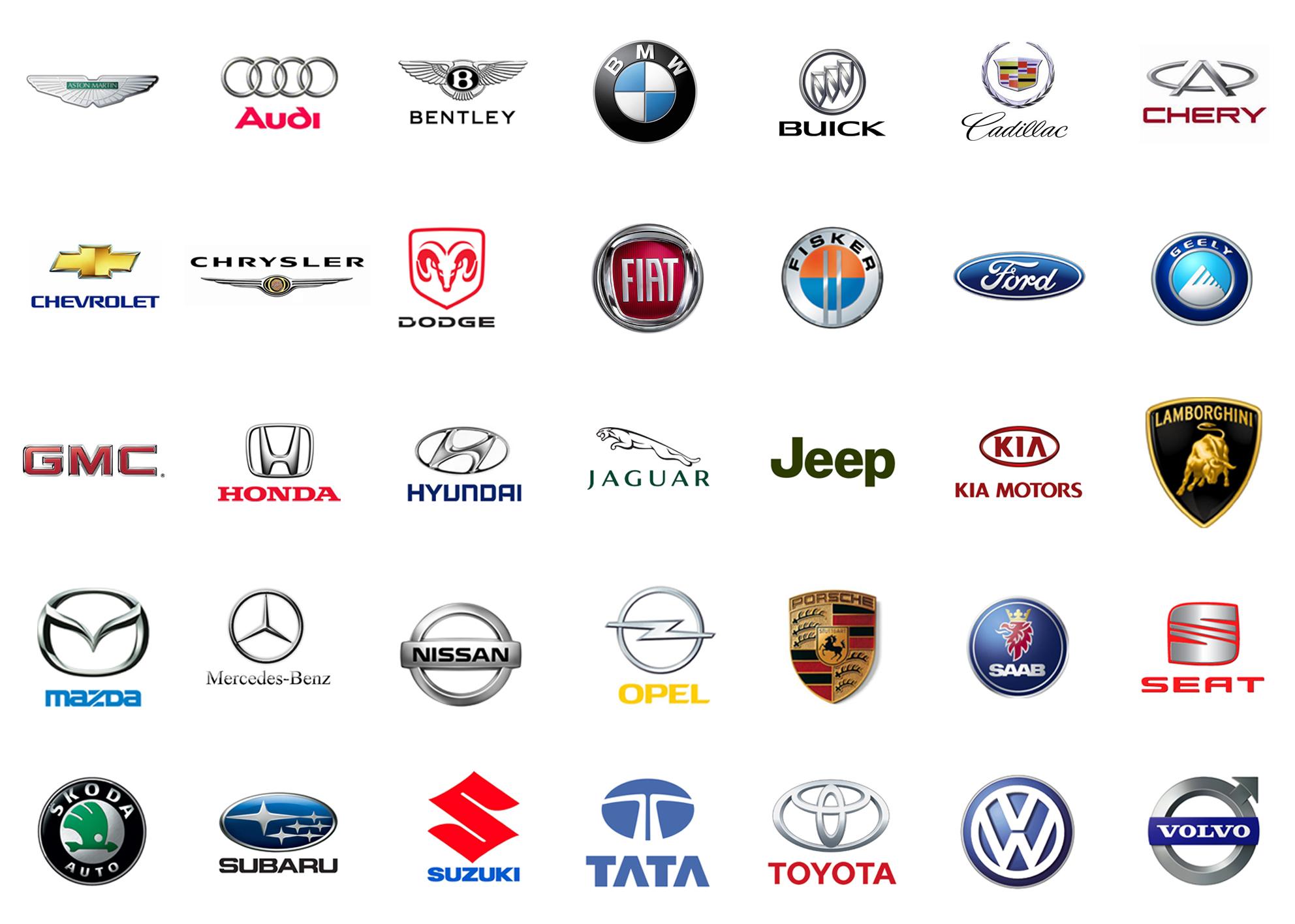 Картинки значков всех марок машин