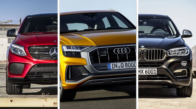 Audi Q8 против BMW X6 и Mercedes-Benz GLE Coupe