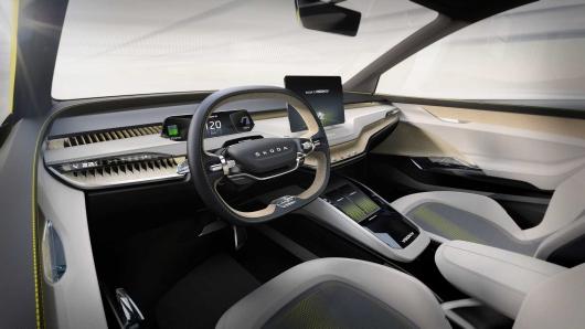 Skoda показала удивительный электрический концепт кроссовера Vision iV Concept