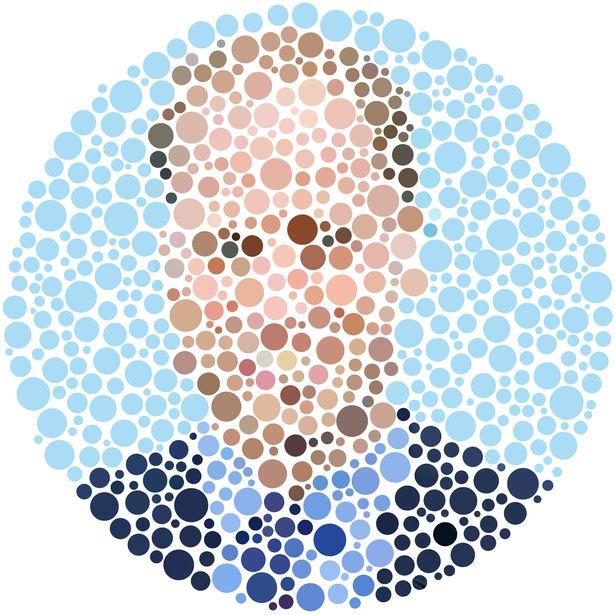 славянки, картинка для проверки цветового зрения хорошо фиксирует