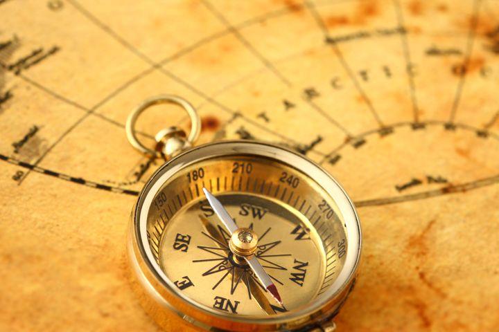 Север-Юг-Запад-Восток Расположение на карте как определить направления с компасом и без