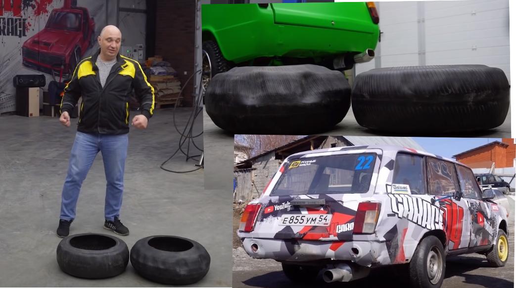 Эксперимент: реально ли ездить на шинах, вывернутых наизнанку