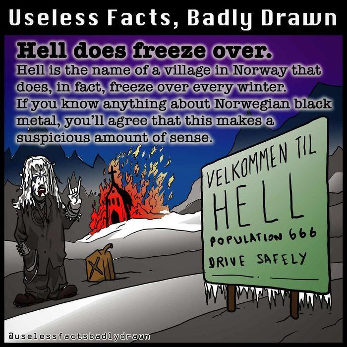 33 забавных факта в рисунках, которыми можно поделится с друзьями, став душой компании