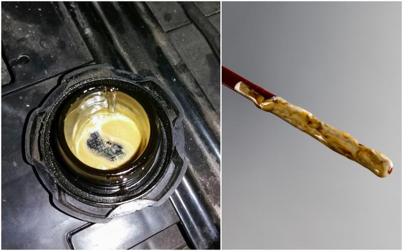 «Сливочное масло» под крышкой маслозаливной горловины— что это?